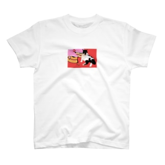 グラス♪バットにゃんNo.11 T-shirts