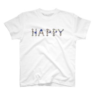 人文字くん 『HAPPY』 T-shirts