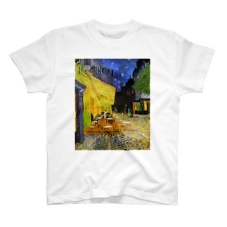 ゴッホ『 夜のカフェテラス 』 T-shirts