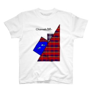 さかなロゴ ちぇっくぼっくすすいそう T-shirts