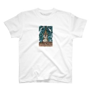 モーセの海開き 服が白いよ T-shirts