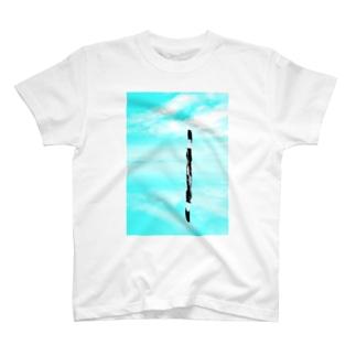 塩湖に立つ猫 T-shirts