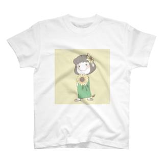 【ゆなつ公式】向日葵をどうぞ T-shirts