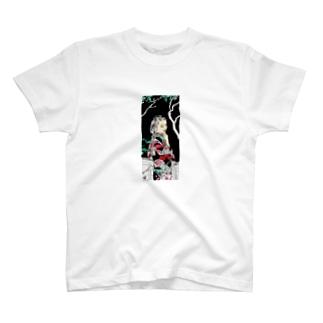 #いくぞ岩田屋  和服美女 堤千代 T-shirts