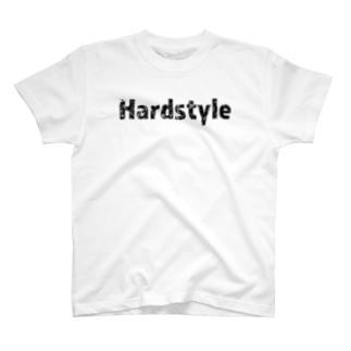 HardstyleロゴTシャツ黒文字 T-shirts