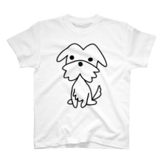 テリアホワイト T-shirts