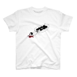 shiromanzyuのたこ脱走 T-shirts