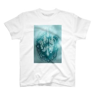 我が亡き後に洪水よ来たれ(BLUE) T-shirts
