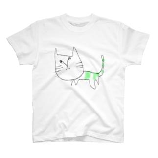 きみどりのしましまねこ。 T-shirts
