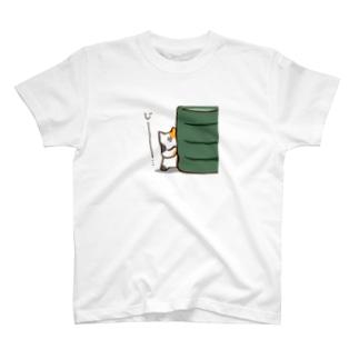 じーっとみつめるすしねこ T-shirts