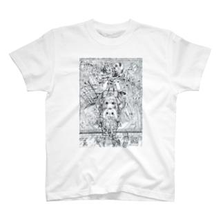 不思議の国のアリス(白黒) T-shirts