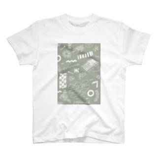 ちよがみ柄 ねずみ T-shirts