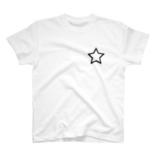 シンプル星 黒枠 T-shirts