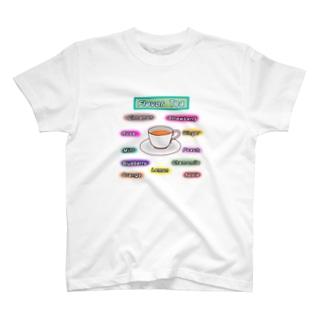 紅茶 フレーバー T-shirts
