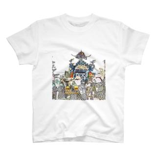 CG絵画:浅草三社祭 CG art: Asakusa Mikoshi T-shirts
