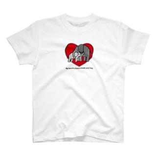 ゾウさんの親子 T-shirts