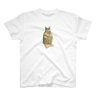 たい焼き猫 T-shirts