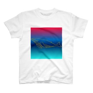 グラフィック鯨 T-shirts