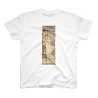 「LA. DAME. / AUX. CAMELIAS / SARAH BERNHARDT」  Mucha, Alphonse/Paris Musées T-shirts