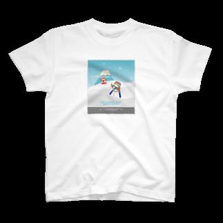 aliveONLINE SUZURI店のHello! すずめだいきち T-shirts