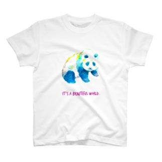カラフルパンダ T-shirts