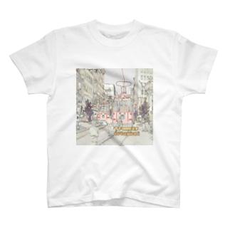 CG絵画:イスタンブールの路面電車 CG art: tram at Istanbul T-shirts