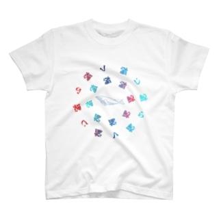 グラフィック-円形鯨 T-shirts