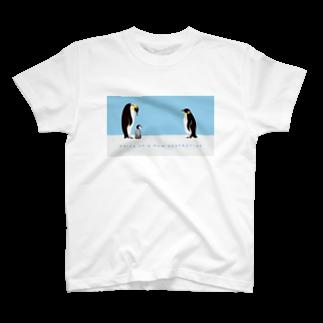 brakuroのvoice of 子ペンギン T-shirts