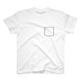偽ポケット T-shirts