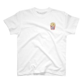 福豆さんポップコーン T-shirts