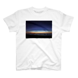 千里浜海岸の夕焼け T-shirts