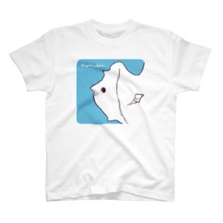 ゆるいおさかな(正方形) T-shirts