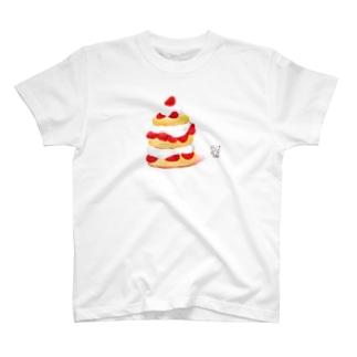 アメリカンショートケーキと犬くん T-shirts