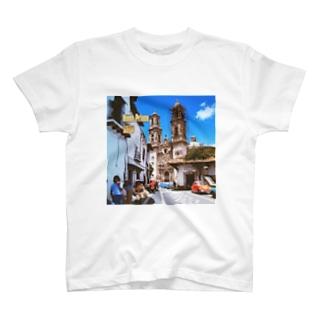 メキシコ:タスコのサンタ・プリスカ教会 Mexico: Santa Prisca / Taxco T-shirts