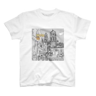 CG絵画:タスコのサンタ・プリスカ教会 CG art: Santa Prisca / Taxco / Mexico T-shirts
