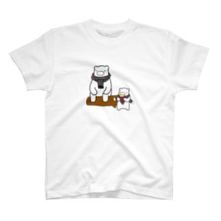 クマーとあんこすきー T-shirts