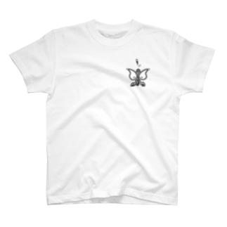 ペイズリー柄ならぬパイズリー柄 ワンポイント T-shirts