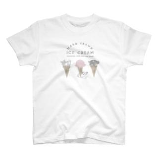 チンチラとIceCream T-shirts