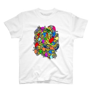 A Mass Of Boy T-shirts