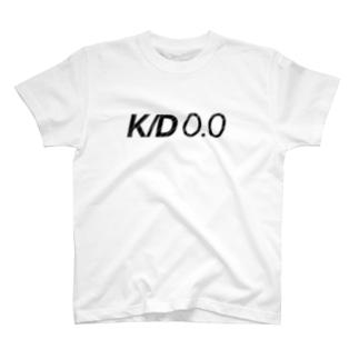 K/D0.0 [文字色黒] T-shirts