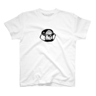文鳥の顔 T-shirts