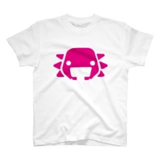 ぺたぞうマーク(白) T-shirts