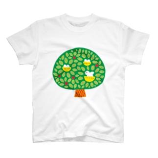 鳥と木 T-shirts