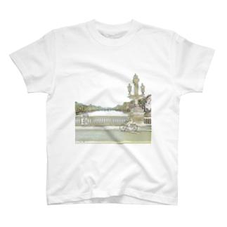 CG絵画:アムステルダムの運河 CG art: Canal in Amsterdam T-shirts
