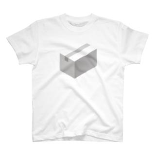 cardboard-box-mono T-shirts