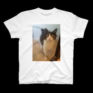グットビジネス&ライフ 1号店のガラスドア越しのりんごさん T-shirts