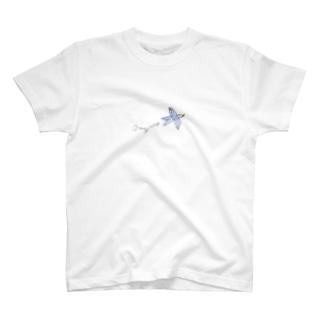 Happy Blue Birdいつも一緒。 T-shirts