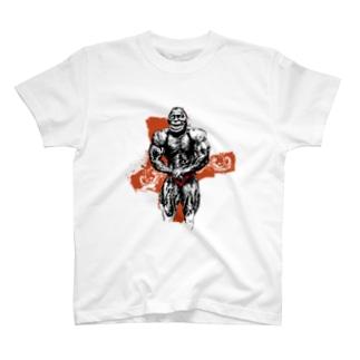 ボディビルディングモンキー T-shirts