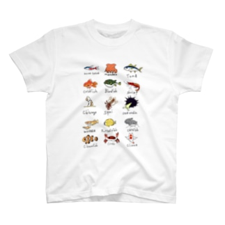 お魚図鑑 T-shirts