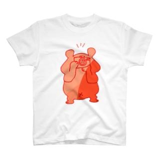 カメラ小僧 赤 T-shirts